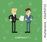 two business partners signing a ... | Shutterstock .eps vector #426293713