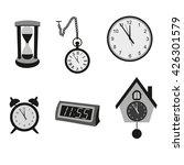 different kinds of clocks.... | Shutterstock .eps vector #426301579