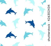 Dolphins Seamless Pattern...