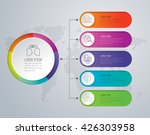 infographic design vector and... | Shutterstock .eps vector #426303958