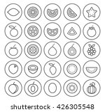 set of isolated high quality... | Shutterstock .eps vector #426305548