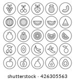 set of isolated high quality...   Shutterstock .eps vector #426305563