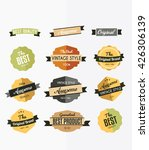 set of retro labels  stickers... | Shutterstock .eps vector #426306139