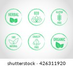 natural green eco organic label ... | Shutterstock .eps vector #426311920