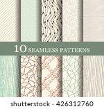 set of 10 retro seamless... | Shutterstock .eps vector #426312760