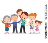 happy extended family. happy... | Shutterstock .eps vector #426313966