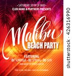 malibu beach party poster.... | Shutterstock .eps vector #426316990