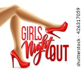 girl night out party design.... | Shutterstock .eps vector #426317059