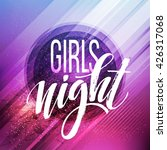 night party typography design.... | Shutterstock .eps vector #426317068