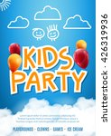 kids party invitation balloon... | Shutterstock .eps vector #426319936