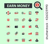 earn money icons  | Shutterstock .eps vector #426325990