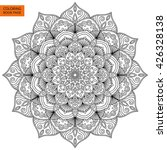 outline mandala for coloring... | Shutterstock .eps vector #426328138