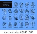 line vector icons in a modern... | Shutterstock .eps vector #426331300