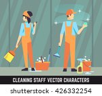 cleaning staff vector... | Shutterstock .eps vector #426332254
