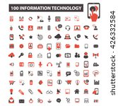 information technology icons  | Shutterstock .eps vector #426332584