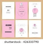vector simple flat kid logo.... | Shutterstock .eps vector #426333790