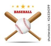 baseball and baseball bat...   Shutterstock .eps vector #426334399