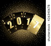 black and gold cards 2017 full... | Shutterstock .eps vector #426340678