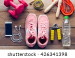 fitness concept with exercise... | Shutterstock . vector #426341398