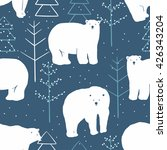 Vector Seamless Winter Pattern...