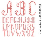 Vector Cross Stitch Alphabet...