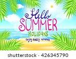 hello summer. poster on... | Shutterstock . vector #426345790