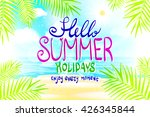 hello summer. poster on... | Shutterstock . vector #426345844