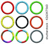 circle  ring. set of 9 colorful ... | Shutterstock . vector #426347560