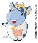 illustration of a cute cow....   Shutterstock . vector #426351016