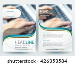 Abstract vector modern flyers brochure / annual report /design templates / stationery with white background in size a4 | Shutterstock vector #426353584
