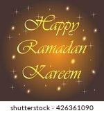 text card ramadan | Shutterstock .eps vector #426361090