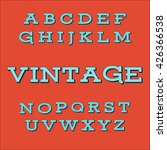 alphabet font | Shutterstock . vector #426366538