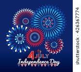 firework effect symbolizing 4th ... | Shutterstock .eps vector #426367774