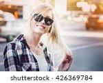 young stylish pretty woman with ... | Shutterstock . vector #426369784