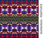 ethnic geometric print.... | Shutterstock .eps vector #426371413
