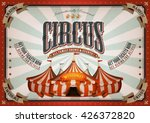 vintage circus poster with big... | Shutterstock .eps vector #426372820