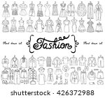vector set with hand drawn... | Shutterstock .eps vector #426372988