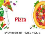 pizza and ingredients on white... | Shutterstock .eps vector #426374278