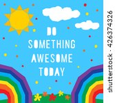 summer something awesome card...   Shutterstock .eps vector #426374326