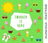 summer is here card. summer... | Shutterstock .eps vector #426374368