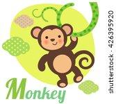 cute animal alphabet for abc... | Shutterstock . vector #426395920