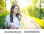 young stylish business woman... | Shutterstock . vector #426400834