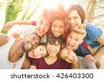 best friends taking selfie... | Shutterstock . vector #426403300