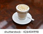 cup of cappuccino with brown... | Shutterstock . vector #426404998