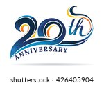 anniversary emblems 20 in... | Shutterstock .eps vector #426405904