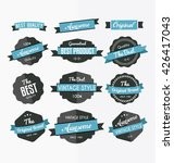 set of retro labels  stickers... | Shutterstock .eps vector #426417043