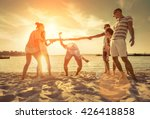 friends funny game on the beach ... | Shutterstock . vector #426418858