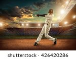 Baseball players in action on...