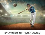 baseball players in action on... | Shutterstock . vector #426420289