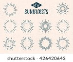 set of vintage sunbursts for... | Shutterstock .eps vector #426420643